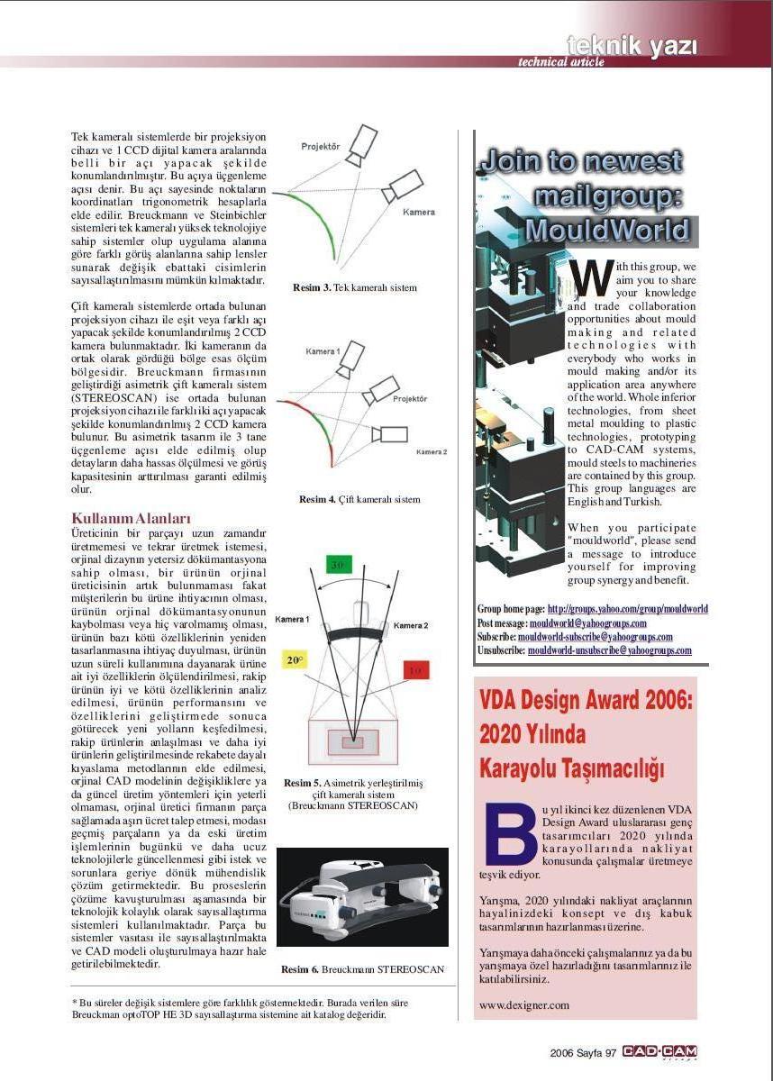 3 boyutlu tarama mühendislik kullanımı