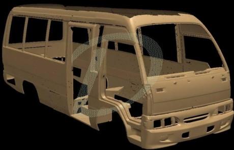 3d scanning minibus