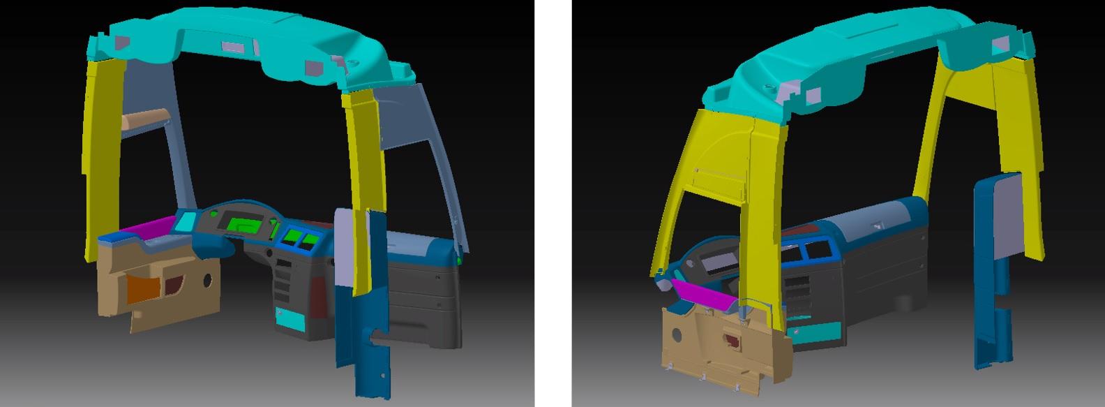Bus interior design Araç tasarım