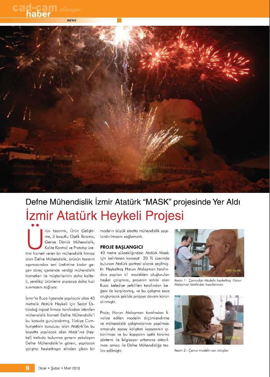 İzmir Atatürk Heykeli - Defne Mühendislik
