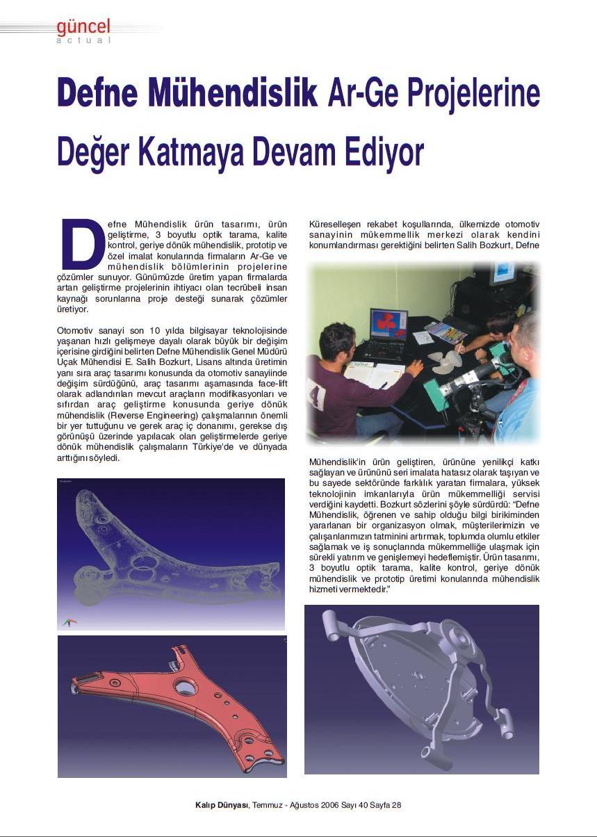 Defne R&D Arge çalışmaları